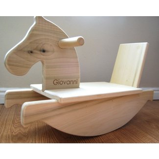 Personalized mod toddler rocking horse