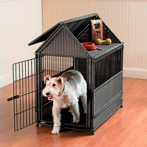 Pet crate table top furniture