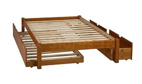 Platform bed with trundle 3