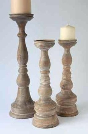 Large Wood Candle Holders Foter