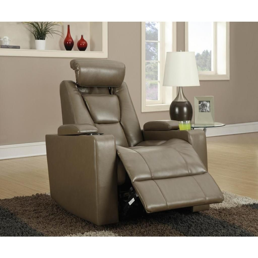 Recliner With Cup Holder And Storage
