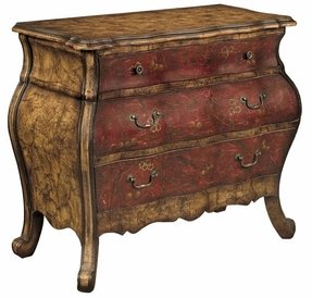 Red bombay chest 14
