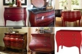 Red bombay chest
