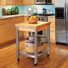 Rolling Butcher Block Cart - Foter