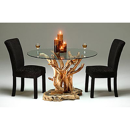 Delicieux Round Glass Dining Table Wood Base   Ideas On Foter