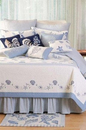 sets comforter seashell nautical queen size l