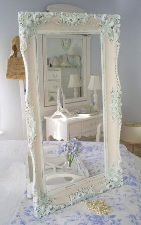 White Leaning Floor Mirror - Foter