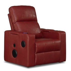 Single recliner with cup holder