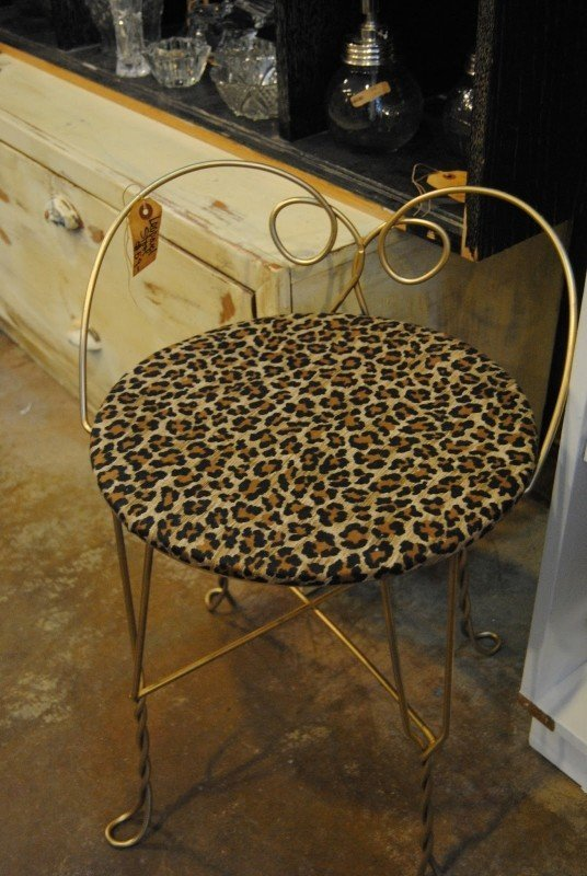 Delightful So Cute With The Right Vanity This Leopard Print Stool