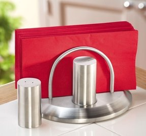 Stainless steel napkin holder 34