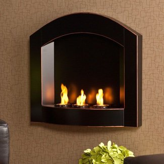 Teva arch top wall mount fireplace