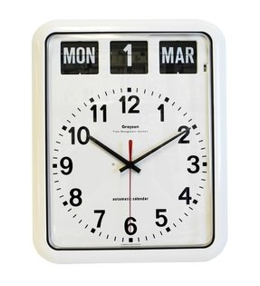 Wall clock with day and date 1