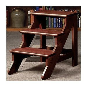 White wood step stool