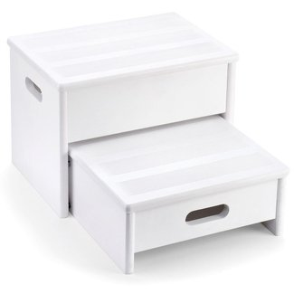 White Wooden Step Stool