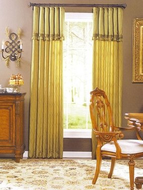 Window curtains with attached valance