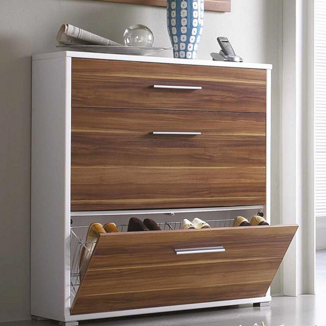 Wood Shoe Storage Cabinet