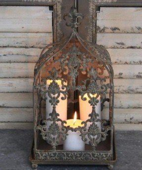 Wrought iron candle holders 1