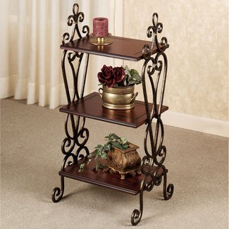 Wrought iron corner shelf 3