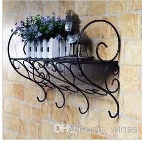 Wrought Iron Stands Bathroom Shelf Wall Mount Bracket