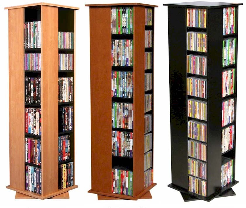 612 Cd 288 Dvd Floor Spinner Storage Tower Rack New