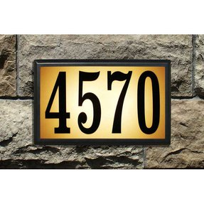 Address sign light