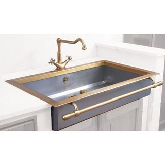 Antique brass sink
