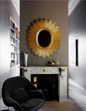 Antique sunburst mirror