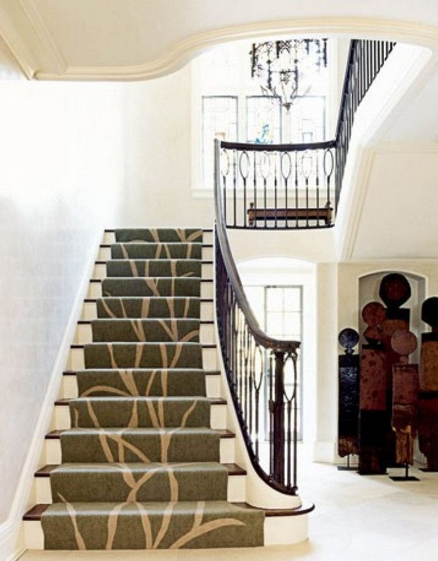 Carpet And Wood Stairs