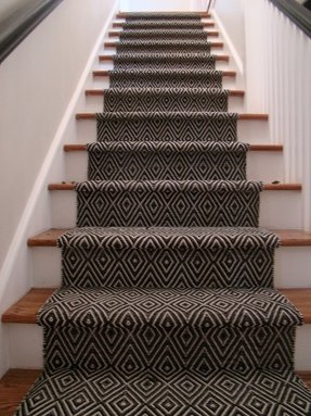 Carpet treads for wood stairs 1