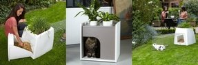 Cat litter box enclosure