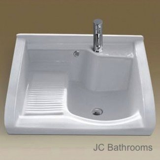 Ceramic laundry sink