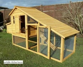 Chicken house with run