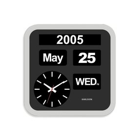 Clock with day and date