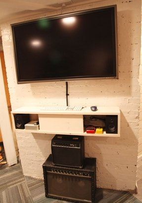 x tv regarding proportions shelves for under shelf affordable design flat mounted wall component mount