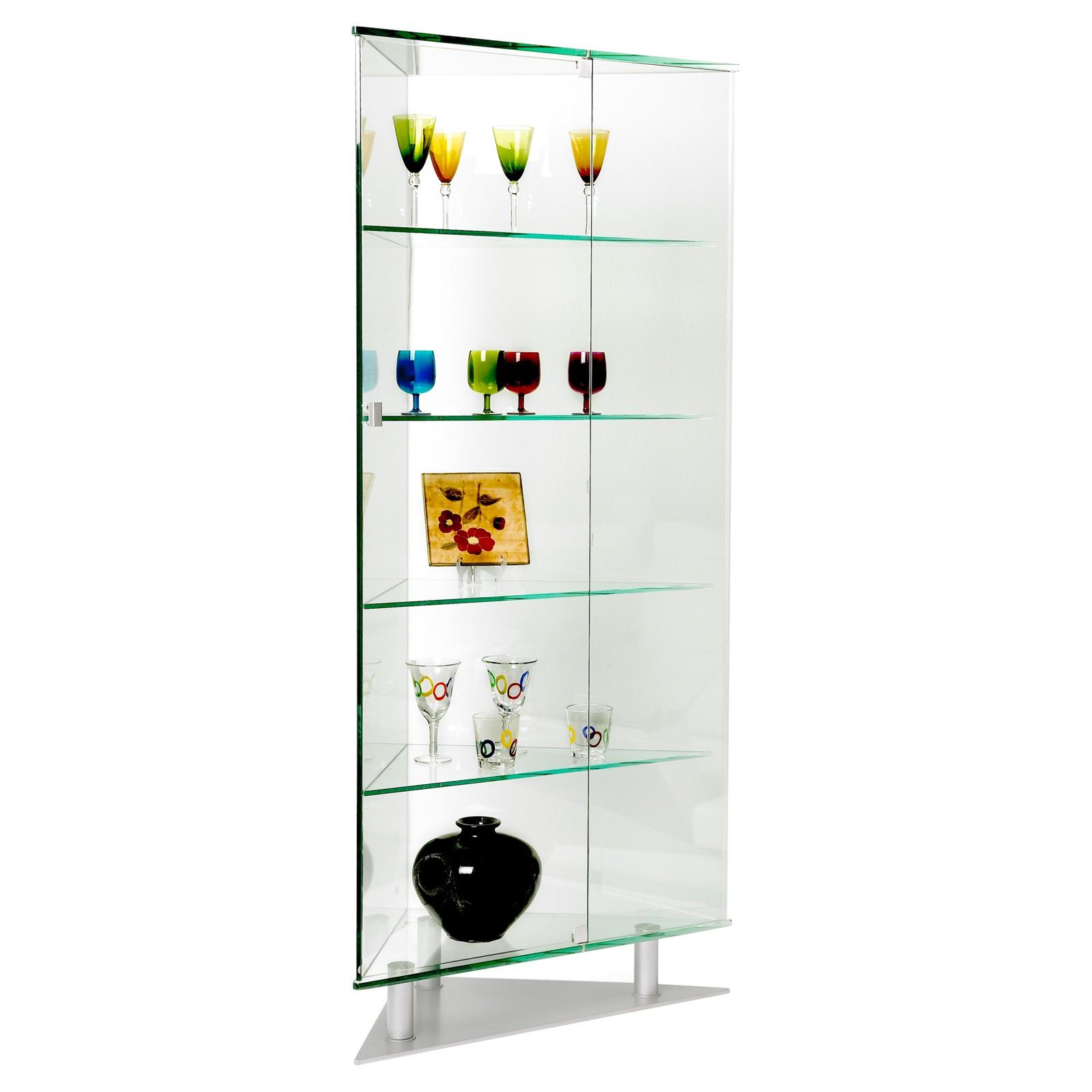 Exceptional Contemporary Corner Curio Cabinet
