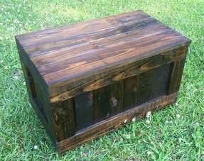 Dark wood toy box 30