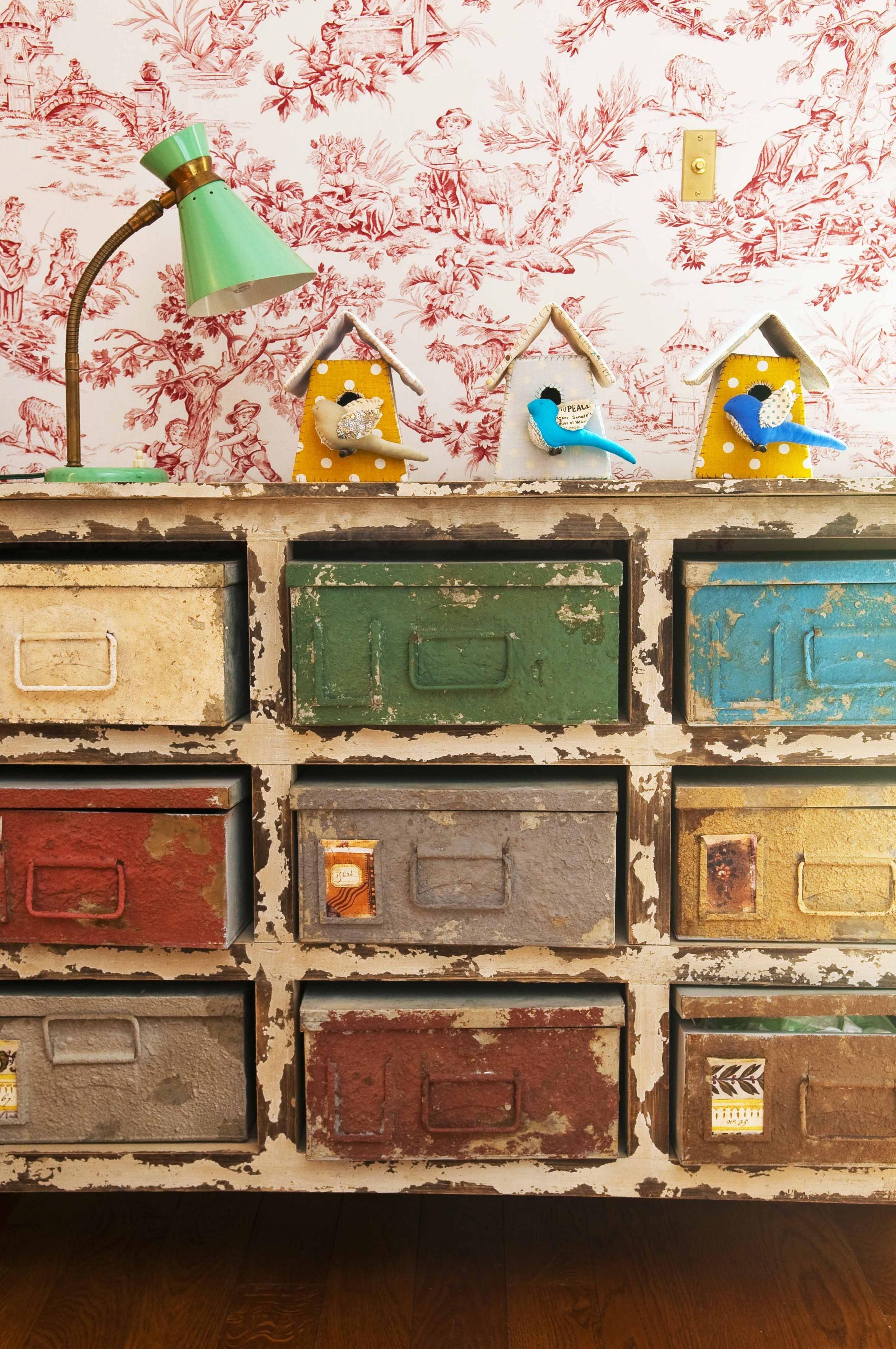 Decorative Metal Storage Bins 21