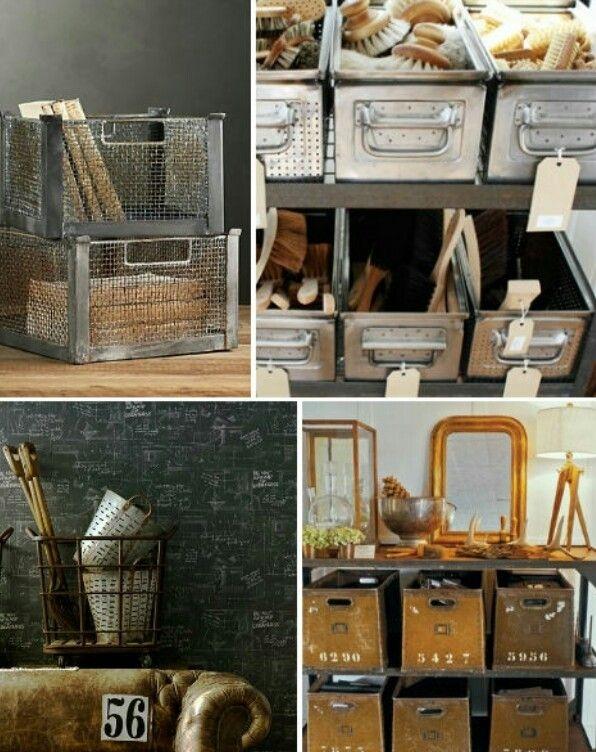 Decorative Metal Storage Bins 3