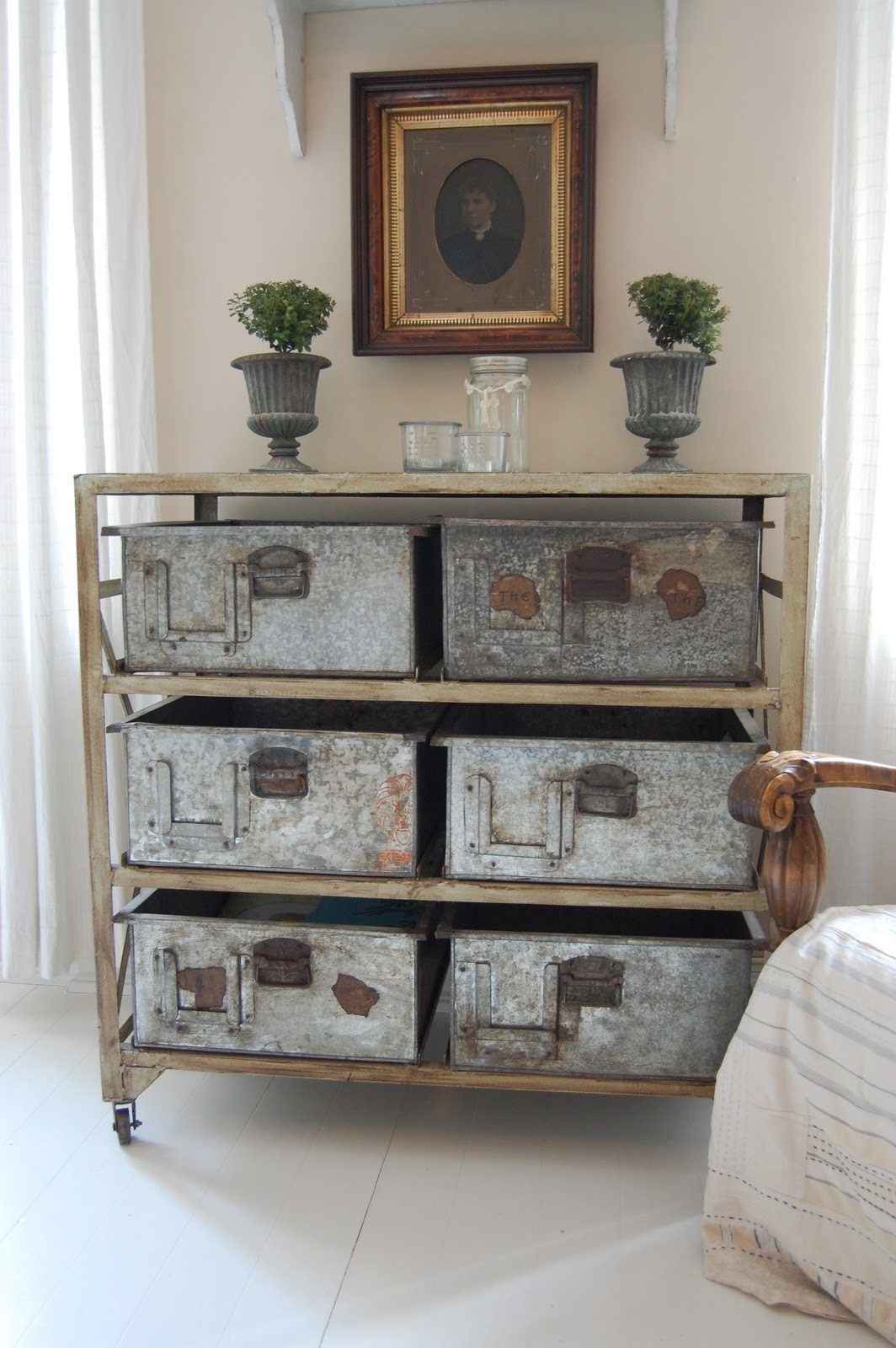 Decorative Metal Storage Bins 4