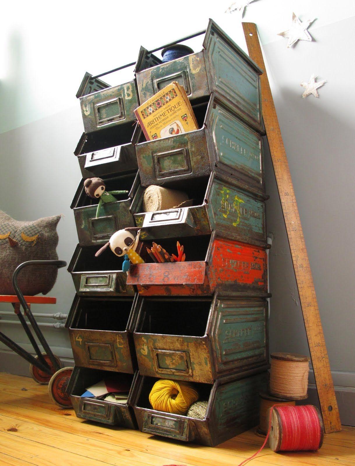 Decorative Metal Storage Bins 8