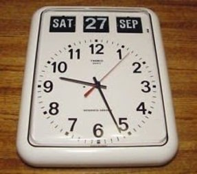 Digital clocks with date and day