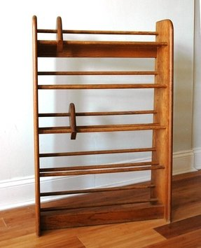 Wood dvd rack foter for Cheap wall storage ideas