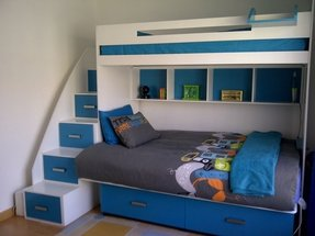 Double bed double bunk