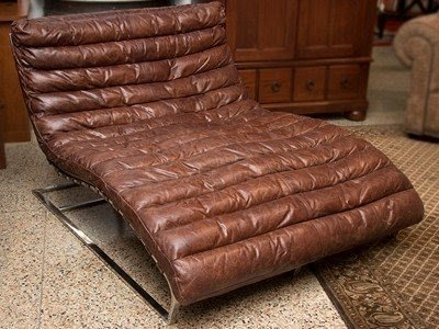 Double Chaise Lounge Leather