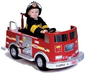 Fire truck for kids pedal ride on toy