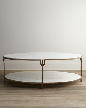 Global views olivia marble top coffee table contemporary coffee tables