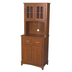 Home Source Oak Hills Microwave Mahogany Cabinet