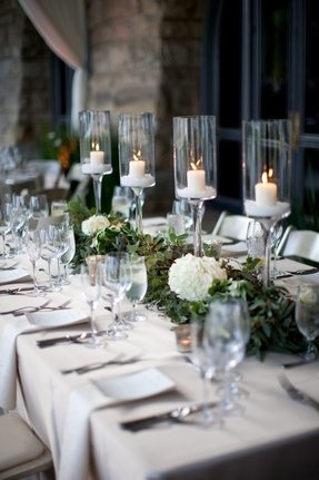 Hurricane Candle Holders Wedding Centerpieces