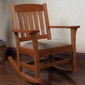 Indoor Wood Rocking Chair 3