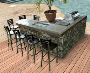 L shaped outdoor bar 2